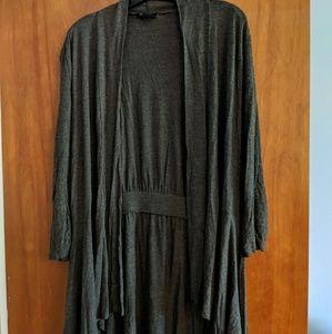 AB Studio 3/4 sleeve open cardigan size Large